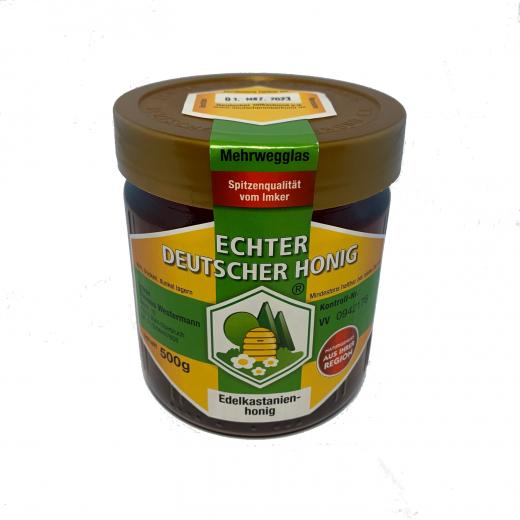 Deutscher Kastanienhonig 500 g aus Baden (direkt vom Imker)