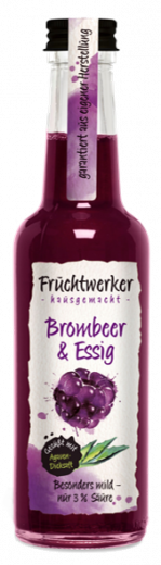 Fruchtwerker Brombeer & Essig 500 ml. - NEU-