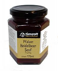 Timrott Pfälzer Heidelbeer Senf (fruchtig) 175 ml.