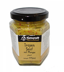 Timrott Tropen Senf mit Mangos (pikant), 115 ml.