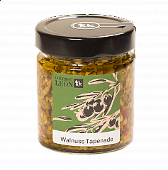 Gourmet Leon Walnuss Tapenade, 190 ml.  VE = 3 Gläser (MHD 11.09.21)
