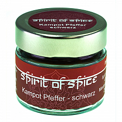 spirit of spice Kampot Pfeffer schwarz  45 g -NEU-