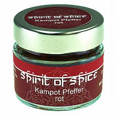 spirit of spice Kampot Pfeffer rot (echter roter Pfeffer)  40 g -NEU-